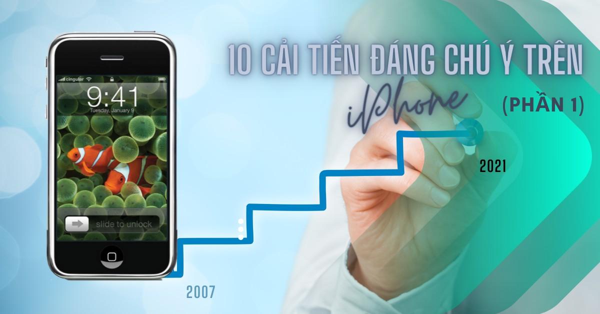 10 cải tiến đáng chú ý nhất trên điện thoại iPhone kể từ khi ra mắt (Phần 1)