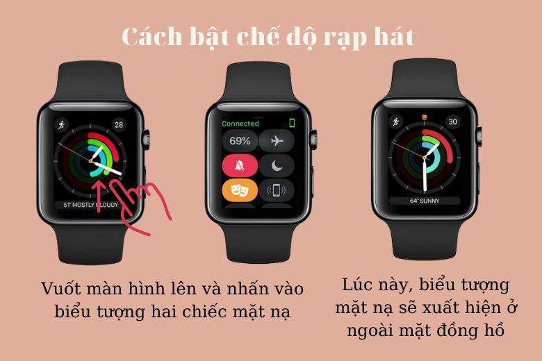Cách bật chế độ rạp hát trên Apple Watch