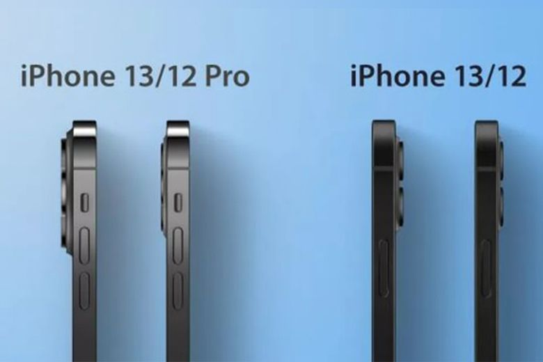 Ảnh chụp mặt cắt so sánh iPhone 13 và iPhone 12