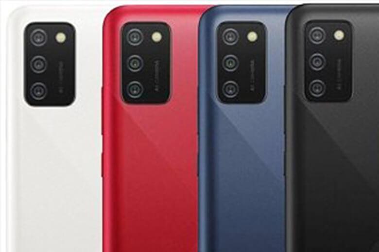 Galaxy A03s sẽ có cho mình cụm 3 camera mặt sau bao gồm một camera chính 13MP cùng với hai camera 2MP cho độ sâu và macro và một camera phía trước 5MP