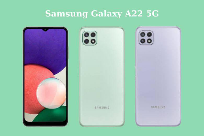 Galaxy A22 5G sẽ được trang bị cụm 4 camera chính vớicảm biến 48MP với khẩu độ tương tự như dòng tiền nhiệm của mình nhưng không có hỗ trợ OIS. Máy có camera góc siêu rộng 5MP (f/2.2) và cảm biến độ sâu 2MP (f/2.4)
