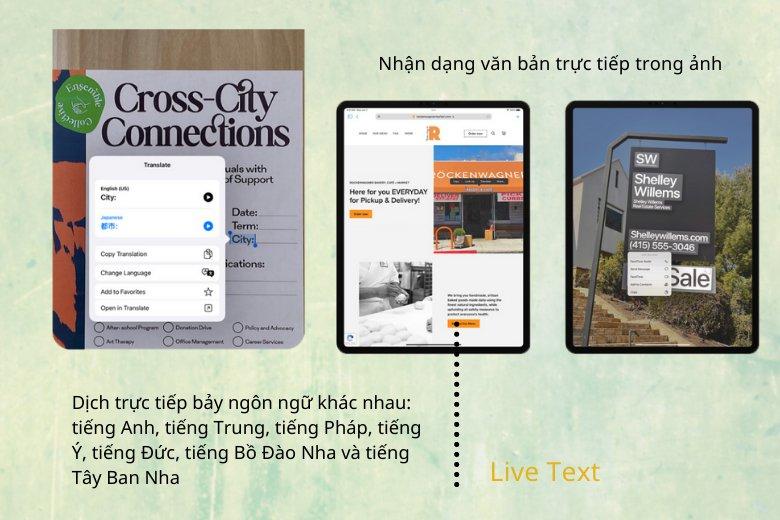 Live Text trên iPadOS 15