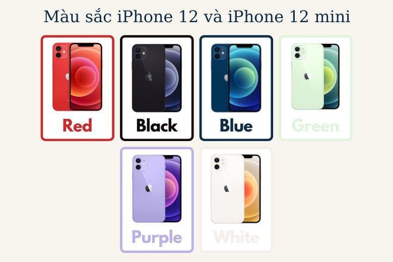 6 màu sắc iPhone 12