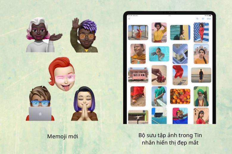 Memoji mới trên iPadOS 15