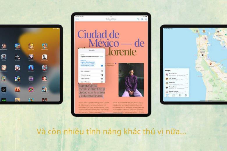 Nhiều điều thú vị trên iPadOS 15