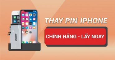 Thay pin iPhone CHÍNH HÃNG – LẤY NGAY – AN TOÀN trong mùa dịch