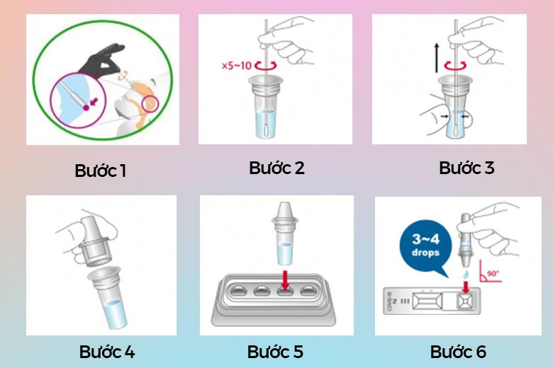 Kit test nhanh Covid-19 Bio-credit - Bộ Dụng cụ xét nghiệm nhanh (combo 3 bộ)